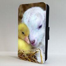 Goat Pato Acurrucarse Animal Funda para Estuche de Teléfono Abatible De Amistad IPHONE SAMSUNG