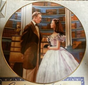 Gone With the Wind A Declaration of Love Collector Plate Bradford Exchange 1991