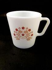 Vintage Pyrex Ginger Summer Impressions Cup Floral D Handle Mug