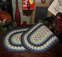 """Primitive Natural Cotton Braided 36"""" TABLE RUNNER Trivet/Placemat Oval #312"""
