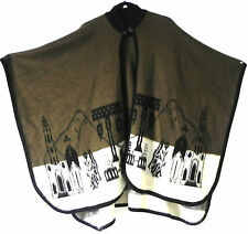 """Chalampuente Made in Ecuador Cape/Poncho Native Pattern One Size(42""""x33"""")"""