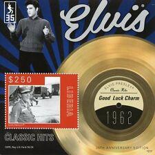 Liberia 2012 estampillada sin montar o nunca montada Elvis Presley éxitos clásicos 1v S/S V Buena Suerte Encanto sellos