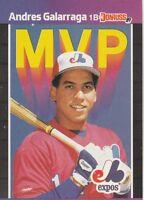 FREE SHIPPING-MINT-1989 (EXPOS) Donruss  MVP #BC16 Andres Galarraga +BONUS CARDS