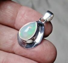 AAA Ethiopian Opal & Sterling Silver Pendant October Birthstone 4.4g