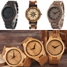 Exquisite Trendy Wooden Watch Quartz Natural Handmade Bamboo Wristwatch Bracelet