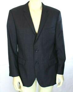 HUGO BOSS James Sharp Jacket Regular Fit Virgin Wool Men's Blazer Gray Size 42R