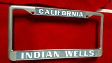 *Indian Wells California*License Plate Metal Frame.. pre-owned
