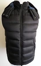 $595 NWT BURBERRY BRIT Black Down Hooded Vest Size M Medium