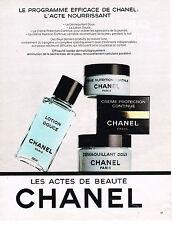 PUBLICITE ADVERTISING 064  1985  CHANEL cosmétiques  LES ACTES DE BEAUTE 2
