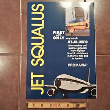 Original Jet Squalus Global Trainer Promavia 4 Page Brochure, 8.5 x 11