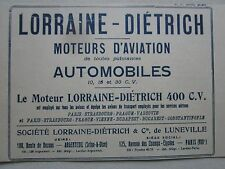1924 PUB LORRAINE DIETRICH MOTEUR AVIATION AERO ENGINE ORIGINAL FRENCH AD