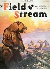 Vintage art Field and Stream Bear Lynn Bogue Hunt