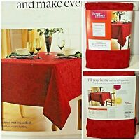 """Better Homes & Gardens 60"""" X 102"""" Oblong Red Paisley Holiday Tablecloth New"""