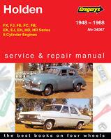Holden FX, FJ, FE, FC, FB, EK, EJ, EH, HD, HR 1948-1968 Repair Manual