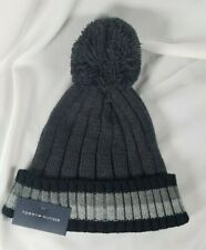 Tommy Hilfiger Men's Cold Weather Cuffed Beanie Gray w/ Pom Pom FREE SHIPPING