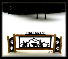 BLACK BEAR SIGN WITH BEAR CLAWS - CLINGERMANS OUTDOOR SIGNS