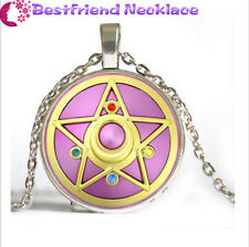 NEW Silver Anime Sailor Moon Jewelry Glass Dome Pendant Necklace#NS4