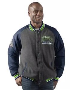 Seattle Seahawks Men's Large Super Bowl Champions Varsity Jacket NEW