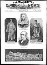 1884 Abbazia di Westminster Monumento Dean STANLEY Lord Cavendish Statua Tyndale (140)