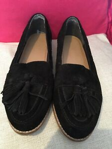 Womens Asos Shoes Size 5.5 Black Suede