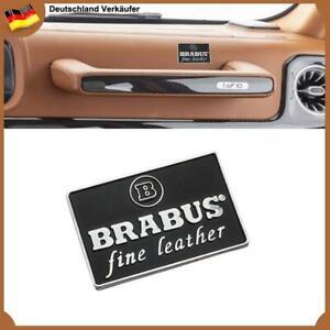 BRABUS fine leather Schriftzug Auto Innen Abzeichen Emblem für Mercedes Benz