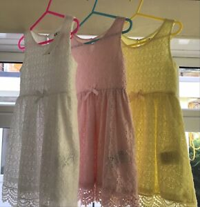 2/4 Years girls summer dresses Clothes Bundle  H&M New