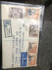New listing Postal History Airmail Registered Letter Kumasi Gold Coast To Chiswick 1956
