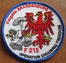 Fregatte BRANDENBURG F 215 OP Enduring Freedom  Marine Patch Abzeichen Navy