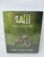 RARE SAW 1-8 MOVIE COLLECTION BLURAY + DVD + SLIPCOVER JIGSAW HORROR NEW SEALED