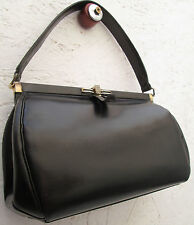 -AUTHENTIQUE sac à main 60's cuir TBEG vintage bag