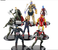 8pcs/lot Endgame Avengers Action Figures Thanos Iron Man Thor Captain America