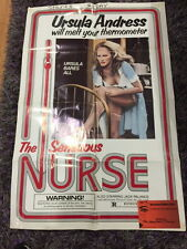 "THE SENSUOUS NURSE - Italian Sex Comedy Vintage Movie Poster (27.5"" x 41"")"