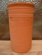 DAVID FRY Studio Pottery BRUSH POT Wine COOLER Red Clay VASE Stoneware NEWCASTLE
