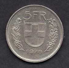 Switzerland 5 franc 1978