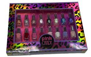 Pink Candy Mini Nail Polish Matte Glitter Metallic 16 x 2 ml Gift Boxed Set