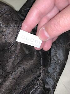 Gucci bag rare dust duffle cloth travel case brown drawstring small Hobo