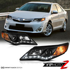 L+R Diamond Black Projector Headlight 2012-2014 Toyota Camry XLE/SE/HYBRID