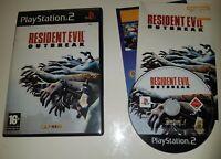 RESIDENT EVIL OUTBREAK PS2 GAME COMPLETE UK PAL VERSION HORROR PLAYSTATION 2