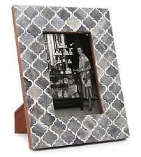 Picture Photo Frame Moorish Moroccan Inspired Handmade Bone B&w Frames Size 5x7 Grey