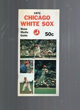 1972 CHICAGO WHITE SOX BASEBALL MEDIA GUIDE-48 PAGES