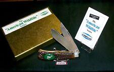 Camillus #10C American Wildlife Knife Running Deer Circa-1970's W/Package,Papers