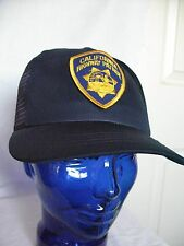 Vintage California Highway Patrol Cap Hat one size fits all USA Made