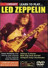 Lick Library LEARN TO PLAY Jimmy Page's LED ZEPPELIN Guitar Lessons Video 2 DVDs