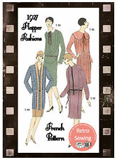 1920s Flapper Fashions -  French Sewing Pattern