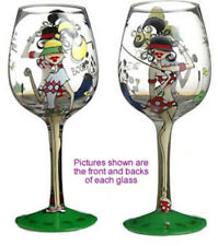 Golfer Lady Party Wine Glass