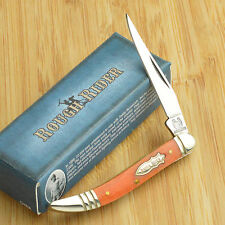 Rough Rider Orange Smooth Bone Baby Toothpick 440 Stainless Pocket Knife RR061
