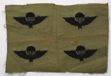 Four Wartime Vietnamese Hand Embroidered ARVN Airborne Wings, Paratrooper Patch