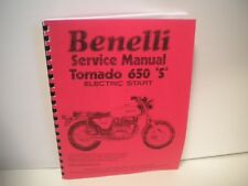 1970's Benelli Tornado 650 S Motorcycle Service Shop Manual