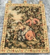 Vintage French Large Floral tapestry Aubusson wall hanging Home Decoration 2x2