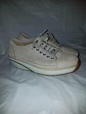 MBT Womens 'Nafasi' Tan beige Sz 38 (7/7.5) Rocker Walking Shoes Nubuck Leather